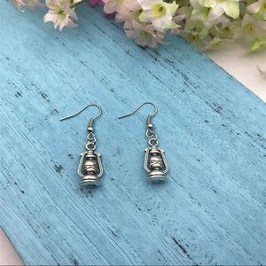 New Oil Lamp Silver Earrings.